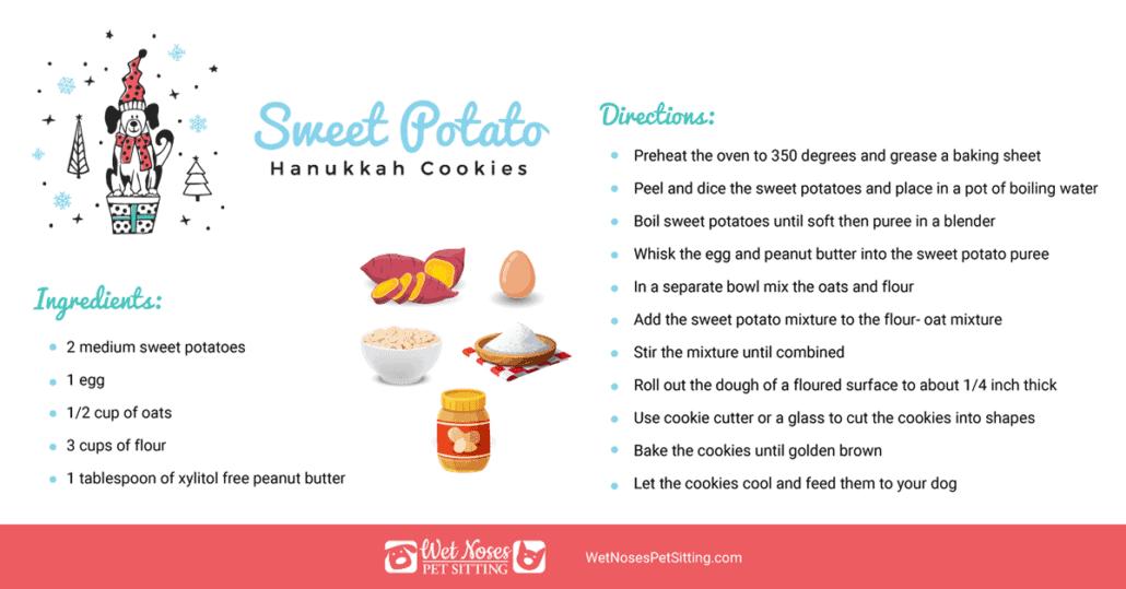 Sweet Potato Hanukkah Cookies for Dogs Recipe