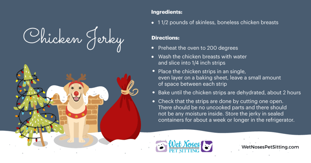 Christmas Chicken Jerky Recipe Card