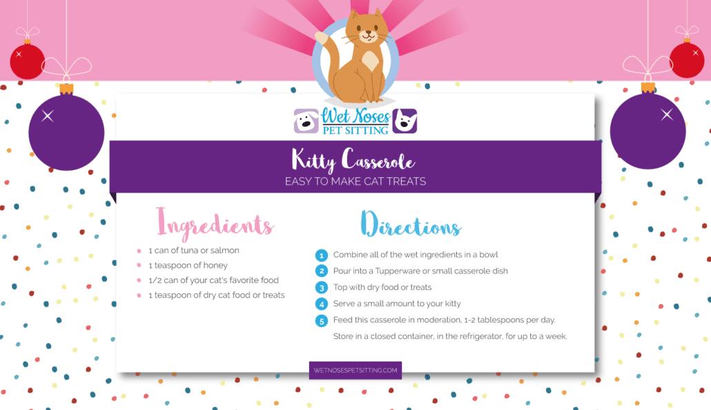 Kitty Casserole - Homemade Cat Treat Recipe Card