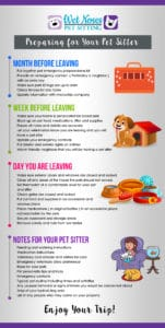preparing for your pet sitter