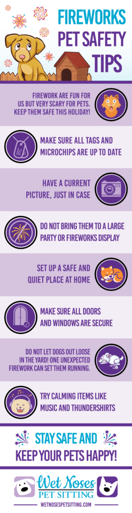 Fireworks Pet Safety Tips Infographic