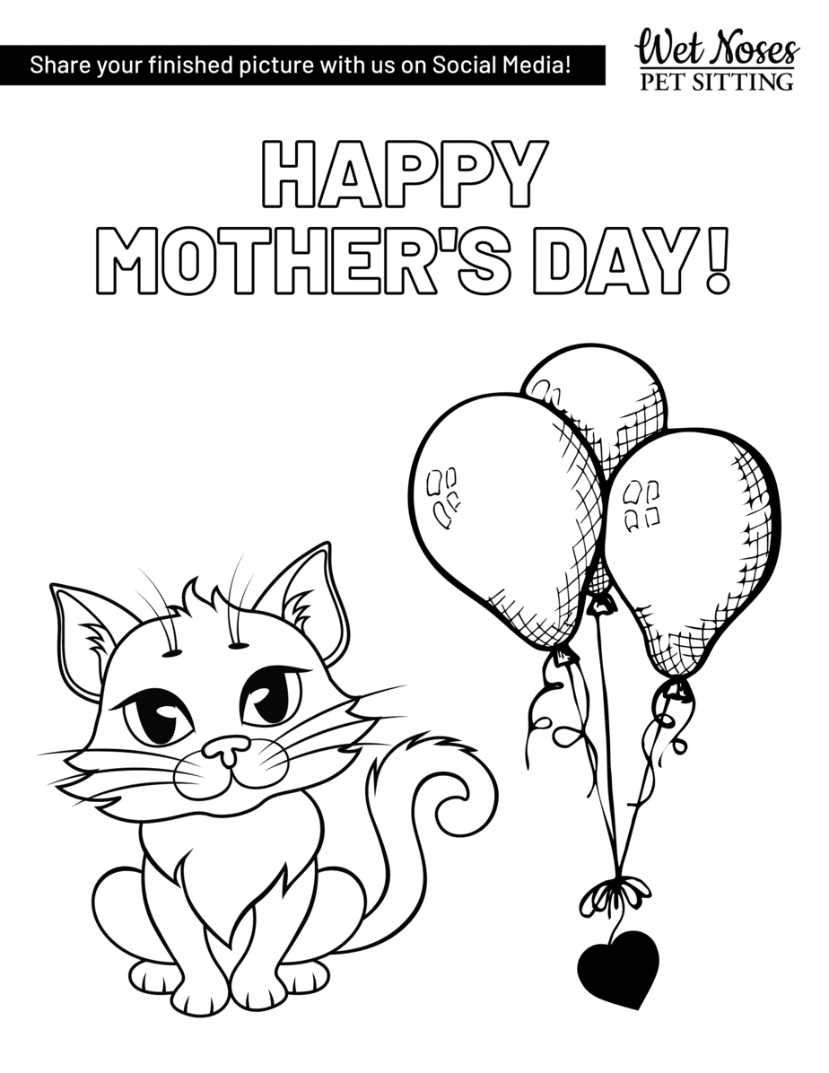 Mother's Day Dog and Cat Coloring Sheets - Wet Noses Pet ...