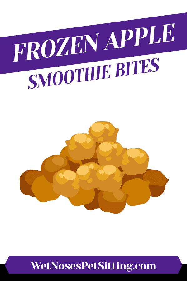 Frozen Apple Smoothie Bites Header