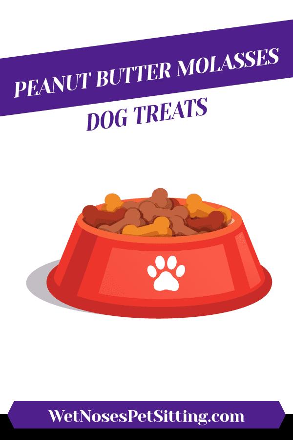 Peanut Butter Molasses Dog Treats Header