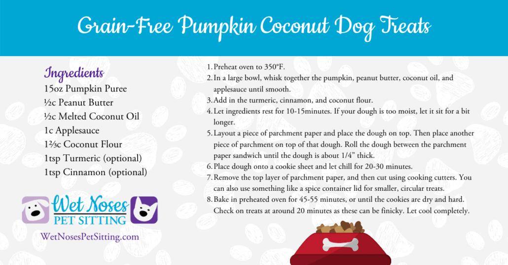 Grain-Free Pumpkin Coconut Dog Treats Recipe Card