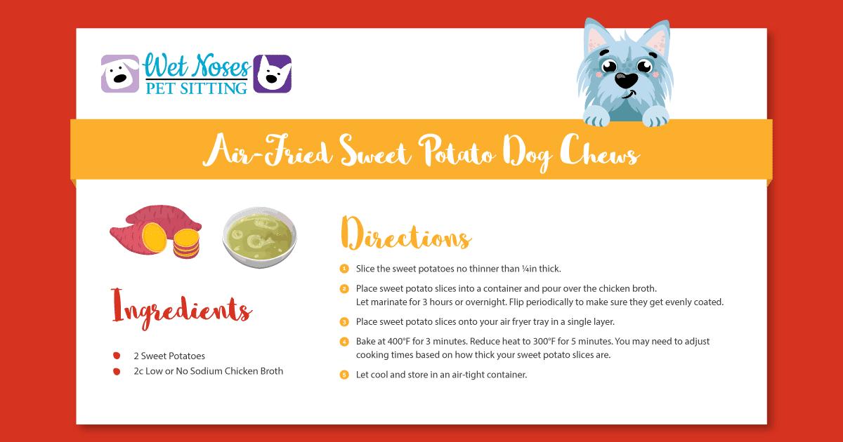 Air-Fried Sweet Potato Dog Chews Recipe